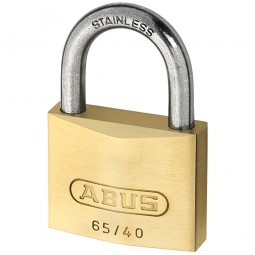 Abus 65IB/40 Brass Padlock Long Stainless Steel Shackle 40mm