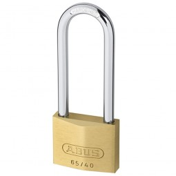 Abus 65/40 Brass Padlock Long Shackle 40mm HB63 Keyed Alike