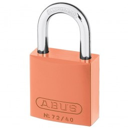Abus 72/40 Aluminium Padlock Hardened Shackle 38m Orange Keyed Alike