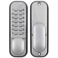 Asec Keyless Digital Door Lock with Holdback - Satin Chrome