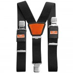 Bahco Padded Braces With Heavy Duty Clips for Work Trousers