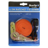Blue Spot Ratchet Metal Buckle Tie Down Strap 4.5m x 25mm