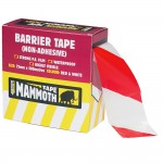 Everbuild Red and White Barrier Tape 72mm x 500 Metres