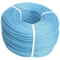 Faithfull Blue Polypropylene Rope 8mm x 220 Metres