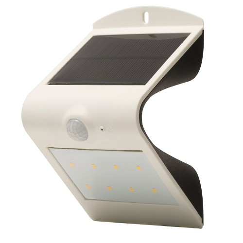 Luceco PIR Wall Light Outdoor Solar Powered Guardian IP44 White