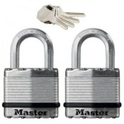 Master Lock Excell Laminated Steel Padlock 64mm - 2 Pack