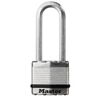 Master Lock Excell Laminated Steel Padlock 45mm Long Shackle 64mm