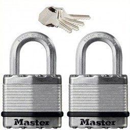 Master Lock Excell Laminated Steel Padlock 50mm - 2 Pack