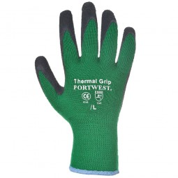 Portwest Thermal Grip Gloves Green and Black - Large