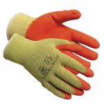 Portwest Rubber Palm Scaffolding Builders Work Gloves - Medium