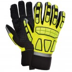 Portwest High Visibility Performance Safety Impact Work Gloves - Large