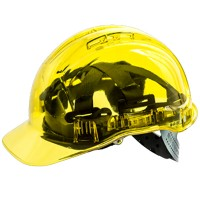 Portwest Peak View Helmet Translucent Safety Hard Hat Yellow