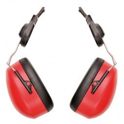Portwest Ear Defenders For Safety Hard Hats - Red