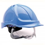 Portwest Safety Hard Hat Self-Sizing Wheel Retractable Visor Blue