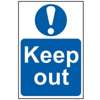 Scan Keep Out Sign PVC 400mm x 600mm