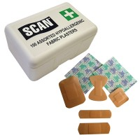 Scan Hygroscopic Fabric Plasters 100 Assorted