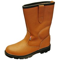 Scan Texas Dual Density Lined Rigger Boots Tan - size 6
