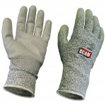 Scan Cut and Puncture Resistant Gloves Grey PU Coated - Large