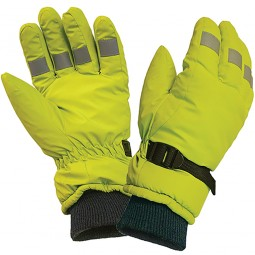 Scan Hi Visibility Gloves Yellow Large