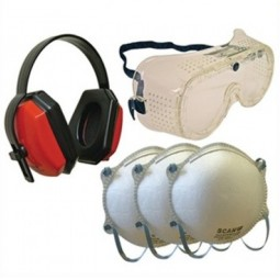 Scan Safety Kit - Goggles Earmuff and Masks
