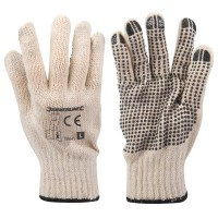 Silverline Single Sided Dot Gloves - Large