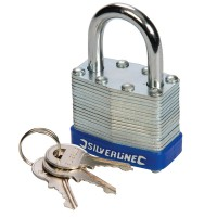 Silverline Laminated Padlock 40mm