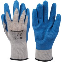 Silverline Latex Builders Gloves - Large