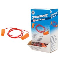 Silverline Corded Ear Plugs 37DB - 200 Pack