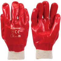 Silverline Red PVC Gloves - Large