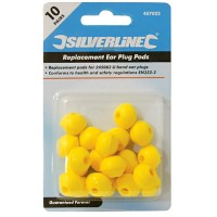 Silverline Spare Pods For The U Band Ear Plugs 20DB - 10 Pack