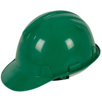 Silverline Safety Hard Hat Green - Labourer