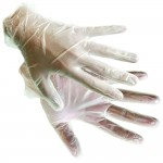 Silverline Disposable Powdered Vinyl Gloves Large - 100 Pack