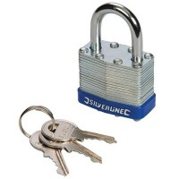Silverline Laminated Padlock 50mm