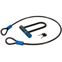 Silverline Bicycle U-Lock and 1200mm Cable Set