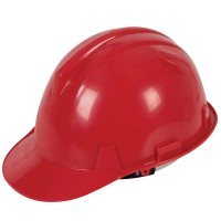 Silverline Safety Hard Hat Red - Labourer