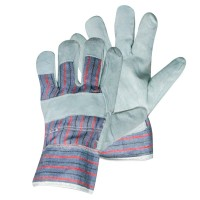 Silverline Canadian Rigger Gloves Leather Palm - Large