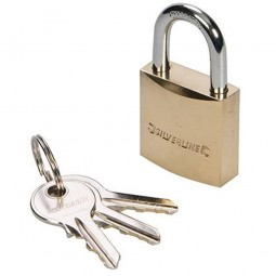 Silverline Brass Padlock 50mm
