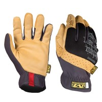 Mechanix Wear Fastfit 4X Work Gloves Black and Tan - 9 Large