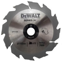 DeWalt DT1140 Series 30 Circular Saw Blade 152mm x 20mm - 12 Teeth