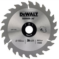 DeWalt DT1141 Series 30 Circular Saw Blade 152mm x 20mm - 24 Teeth