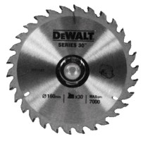 DeWalt DT1143 Series 30 Circular Saw Blade 160mm x 20mm - 30 Teeth