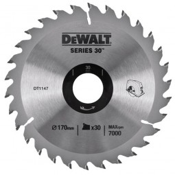 DeWalt DT1147 Series 30 Circular Saw Blade 170mm x 30mm - 30 Teeth