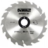 DeWalt DT1148 Series 30 Circular Saw Blade 184mm x 30mm - 18 Teeth