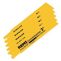 Rems Steel Pipe Cutting Recip Saw Blades 140mm 2.5mm Pitch - 5 Pack