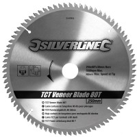 Silverline Circular Saw Blade TCT Veneer - 250mm / 10in