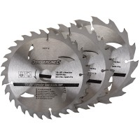Silverline Circular Saw Blades TCT 150mm - 3 Pack