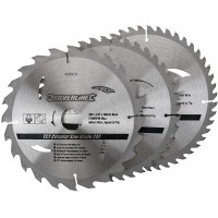 Silverline Circular Saw Blades TCT 205mm - 3 Pack