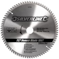 Silverline Circular Saw Blade TCT Veneer 300mm / 12in