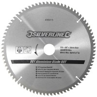 Silverline Circular Saw Blade TCT Aluminium Cutting 250mm / 10in