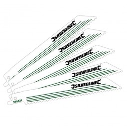 Silverline Wood Reciprocating Saw Blades 150mm - 5 Pack